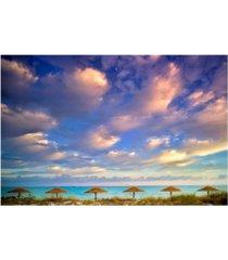 "christopher knight collection - beach hut heaven canvas art, 18"" x 24"""
