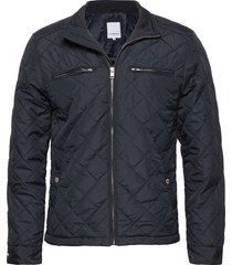 quilted jacket doorgestikte jas blauw lindbergh