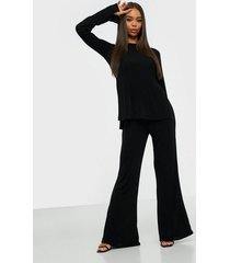 nly one side slits set jumpsuits