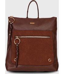 mochila cork  marrón secret