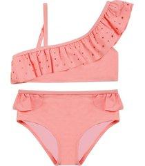 bikini uv30 un hombro tela brillante h2o wear