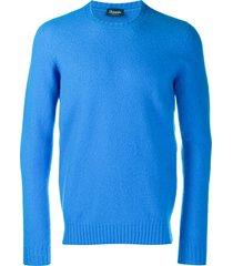 drumohr slim-fit wool sweater - blue