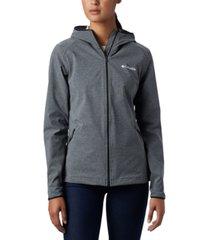 columbia women's heather canyon hooded softshell jacket