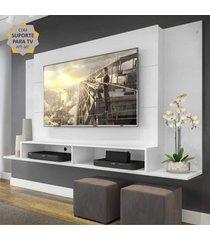 "painel com suporte para tv atã© 60"" tã³kio multimã³veis branco - incolor - dafiti"