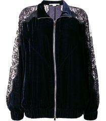 lace panel track jacket