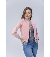 chaqueta bomber dama rosado di bello jeans  classic jackets ref c003