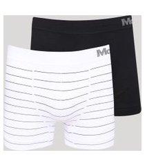 kit de 2 cuecas masculinas mash boxer sem costura multicor