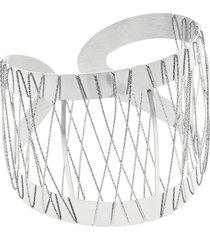 bracciale bangle big in bronzo rodiato per donna