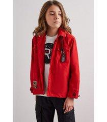 jaqueta mini nylon utilitaria reserva mini vermelho - vermelho - menino - dafiti