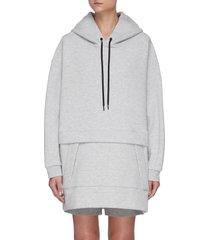 air cushion' oversize cotton blend hoodie
