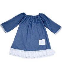 vestido liminha doce ombro a ombro azul