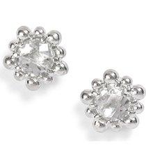 women's anzie micro dew drop topaz earrings