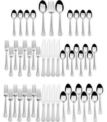 international silver, stainless steel 51-pc. capri frost finish, service for 8, created for macy's