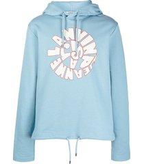 lanvin logo-print hoodie