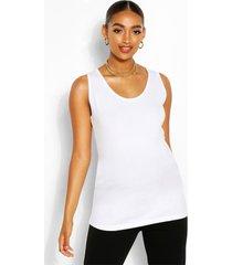 zwangerschap hemdje met laag uitgesneden hals, wit