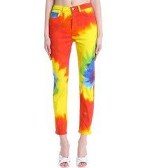 alexandre vauthier jeans in multicolor cotton