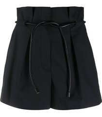 3.1 phillip lim belted high-waisted shorts - black