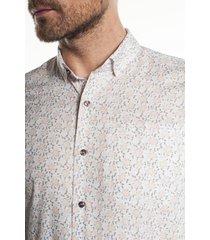 koszula bexley 2833 krótki rękaw custom fit ecru