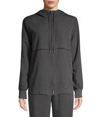 sandwashed tencel hooded jacket