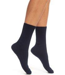 women's falke cosy crew socks, size 35/38 - blue