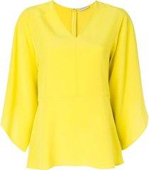 etro draped shift blouse - yellow