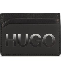 boss hugo boss men's gradient card holder - black