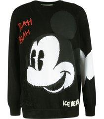 iceberg mickey mouse blah blah sweatshirt
