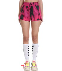 active tiger shorts in fuxia polyamide