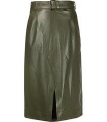 marni high-waist belted skirt - green
