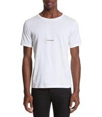 men's saint laurent gauche logo t-shirt, size xx-large - white