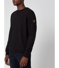 belstaff men's jarvis sweatshirt - black - l