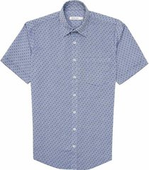camisa casual manga corta textura regular fit para hombre 87931