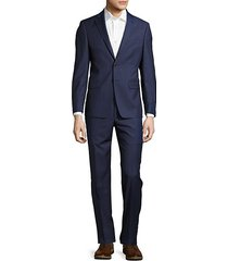 extreme slim-fit solid polished wool suit