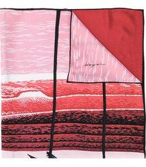 julien david the wave indian summer scarf - pink
