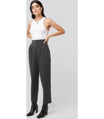 na-kd classic oversized suit pants - grey