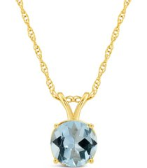 aquamarine (1-1/4 ct. t.w.) pendant necklace in 14k yellow gold