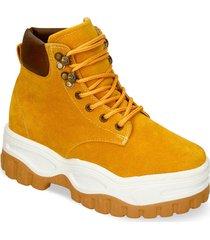 botines amarillo bata handre mujer