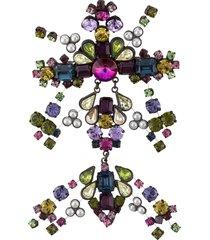 gianfranco ferré pre-owned 2000s embellished brooch - purple