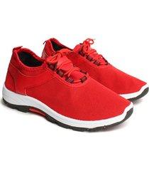 tenis sport color rojo