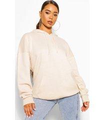 basic oversized hoodie, stone