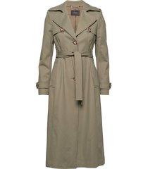 janis k trench coat trenchcoat lange jas groen andiata