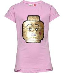 lwt 308 - t shirt s/s t-shirts short-sleeved röd lego wear
