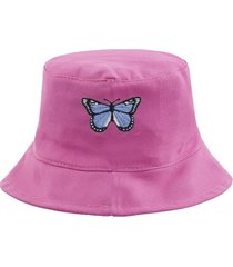 gorro rosa bohemia mariposa