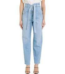 pinko high-rise jeans with belt