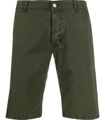 daniele alessandrini slim fit chino shorts - green