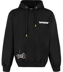 barrow printed cotton hoodie