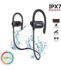 audífonos bluetooth deportivo a prueba de agua con mic - negro