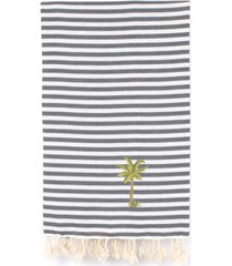 linum home fun in the sun breezy palm tree pestemal beach towel bedding
