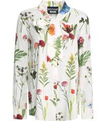 boutique moschino printed viscose shirt