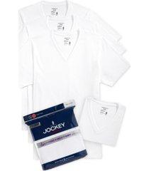 jockey men's tagless 3-pack v-neck t-shirts + 1 bonus shirt, created for macy's